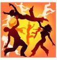 dancing tricks vector image vector image