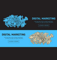 digital marketing web design with isolated vector image vector image