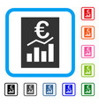 euro sale report framed icon vector image