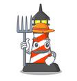 farmer lighthouse character cartoon style vector image