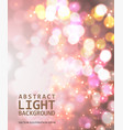festive light background with bokeh vector image vector image