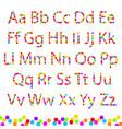 font color circles vector image