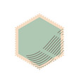 formed postage stamp icon flat style vector image