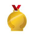gold award ribbon vector image vector image