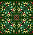 green floral greek seamless pattern vector image