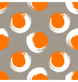 Grunge orange and white circles on white coffee vector image vector image