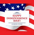 happy independence day greeting card usa vector image vector image