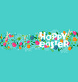 happy spring easter holiday web banner with bunny vector image
