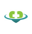 heart medical cross logo design vector image