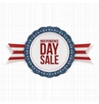 Independence Day Sale realistic Label vector image vector image
