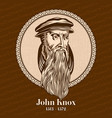 john knox was a scottish minister theologian vector image vector image
