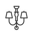 lantern or lamp icon line style editable stroke vector image vector image