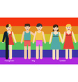 LGBT person vector image