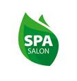 logo green leaf for Spa Salon vector image vector image