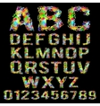 Multicolored geometric polygonal broken alphabet vector image