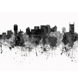 Nashville skyline in black watercolor on white vector image vector image