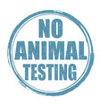 no animal testing sign or stamp vector image vector image