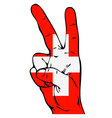 Peace Sign of the Swiss flag vector image