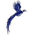 pheasant bird fowl flying side retro vector image vector image