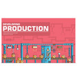 producrion thin line concept vector image