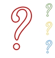 Question mark sign Set of line icons vector image vector image