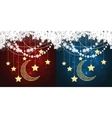 red and blue christmas cards vector image vector image