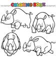 Rhinos vector image vector image