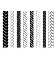 ropes pattern brushes braids and plaits set vector image