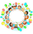 round banner with fun kids place for your text vector image vector image
