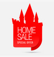 sale special offers home sale vector image vector image