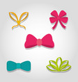 Set of decorative bows
