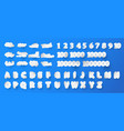 set of number and 26 english alphabet in shape of vector image