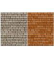 set of old brick wall seamless pattern vector image