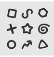 set symbols vector image vector image