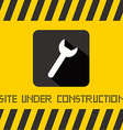 Site Under Construction Title with Spanner Icon on vector image