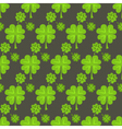 St Patrick Day green clover seamless pattern vector image