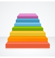 Stairs in Rainbow Colors vector image vector image