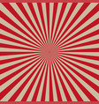 sun rays red background vector image vector image
