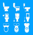 toilet bowl icons set simple style vector image