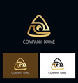 triangle gold technology logo vector image vector image