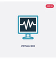 Two color virtual box icon from technology