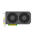 video card pc hardware vector image vector image