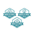vintage medical logo designs vector image vector image