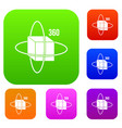 virtual cube set color collection vector image vector image