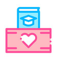 volunteers support study box thin line icon vector image vector image