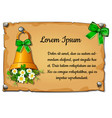 wall poster with christmas greetings with space vector image vector image