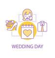 wedding day preparation concept icon vector image vector image