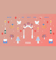 wedding planning website design vector image