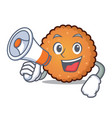 with megaphone cookies character cartoon style vector image vector image