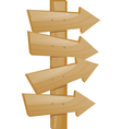wooden pointer vector image vector image